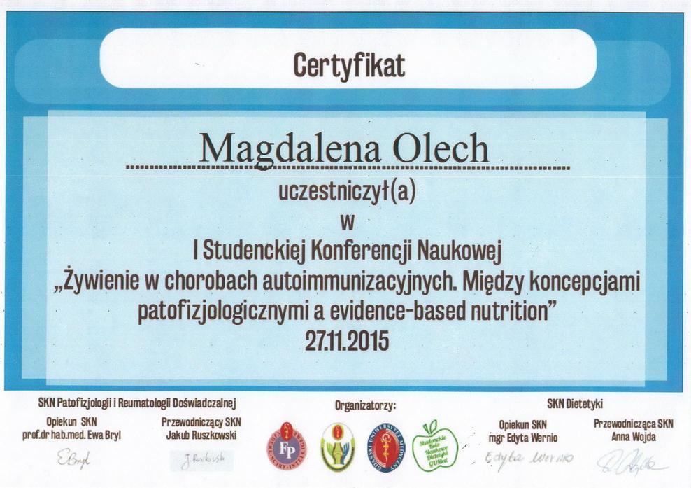 Dietetyk Pruszcz Gdański - mgr Magdalena Olech - poradnia dietetyczna